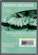 Merry Mint Chocolate American Home Yankee Candle Fragranced Wax Cubes Tarts - $3.50