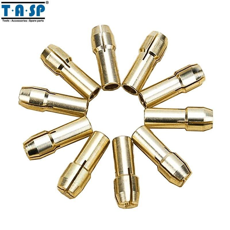 Primary image for TASP® 10pc/Set Brass Rotary Tool Collet Mini Drill Chuck Set