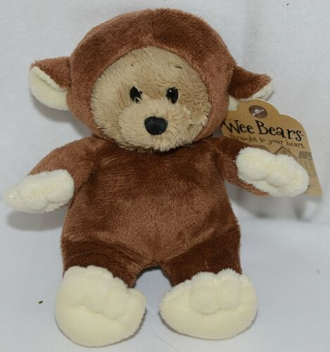 GANZ Brand Wee Collection H13379 Brown Tan Monkey Costume Bear
