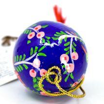 Asha Handicrafts Hand Painted Papier-Mâché Blue Bird Holiday Christmas Ornament  image 6