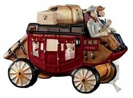 Wells Fargo & Company Stagecoach Wagon Ceramic Cookie Jar NEW IN THE PAC... - $98.99