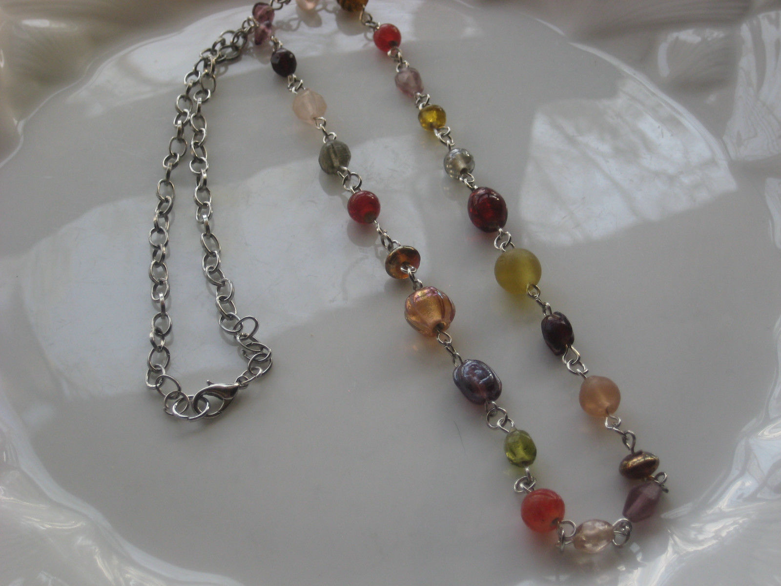 glass beaded necklace handmade  #1