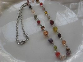 glass beaded necklace handmade  #1 - $5.94