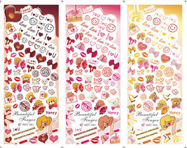 3IN1 Hot Sale New Fashion Cute DIY Water Transfer Nail Sticker Teddy Bear - $21.00