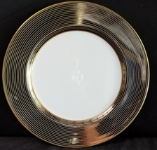 """Fitz & Floyd LES BANDES PLATINEES Dinner Plate 10.25"""" (multiple available) mint - $35.06"""