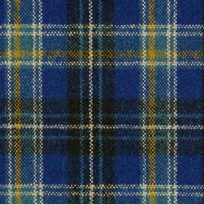 Maharam Upholstery Fabric Pressed Plaid Wool Cobalt Blue 1.125 yds 466181–005 EG