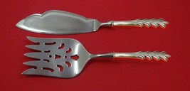 Crest of Arden by Tuttle Sterling Silver Fish Serving Set 2 Piece Custom HHWS - $151.05