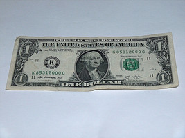 2013 Dollar Bill US Bank Note Date Year Birthday 8531 2000 Fancy Money S... - $13.58