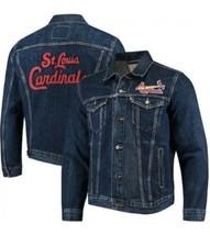 Levis Jeans MLB St. Louis Cardinals Baseball Denim Jacket Size XL Brand New - $69.30