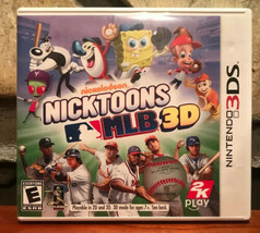 Nicktoons MLB 3D (Nintendo 3DS, 2012) No Manual Free Shipping Baseball - $10.99