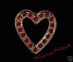 Red & Gold Sparkling Heart Pin - Brooch - Avon - NIB - $10.69
