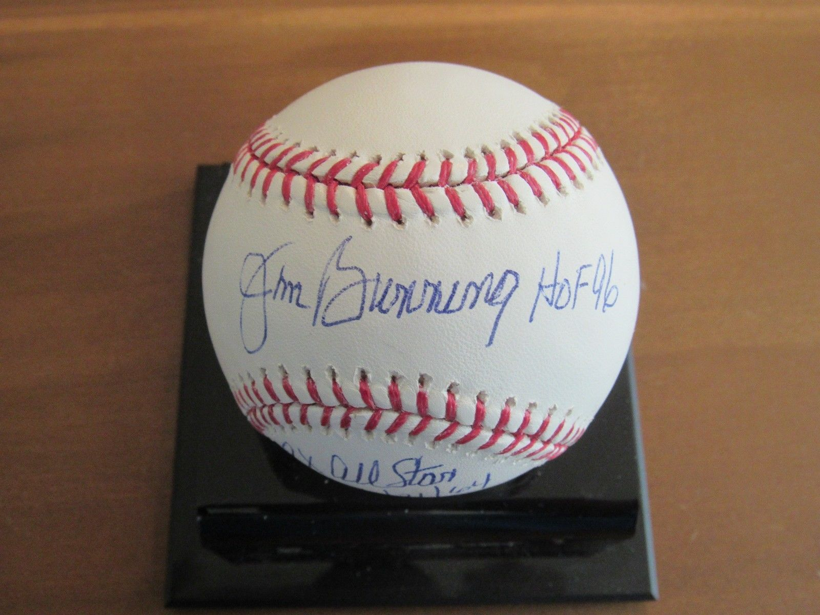 Primary image for JIM BUNNING HOF 96 9X ALL STAR PG TIGERS PHILLIES SIGNED AUTO STAT BASEBALL JSA