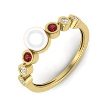 Yellow Fn 925 Silver Off White Cultured Pearl Engagement Ring Wedding Ri... - $89.99