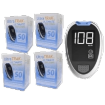 Free Ultra Trak Ultimate Meter with purchase of 200Ct Test Strips - $47.96
