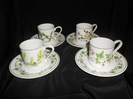Demitasse Cup and Saucer Portmeirion Welsh Wild Flowers Angharad Menna S... - $42.75