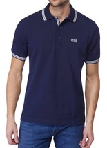 NEW MEN'S HUGO BOSS PREMIUM COTTON GREEN TAG SPORT POLO SHIRT T-SHIRT NAVY BLUE