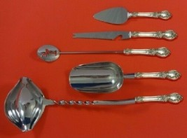 Stanton Hall By Oneida Sterling Silver Cocktail Party Serving Set HH 5pc Custom - $429.00