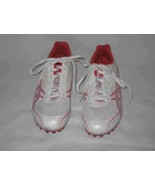 Womens Size 8.5 Red White ASICS Hyper Pocket Girl Spikes Shoes - $54.00