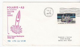POLARIS A-3 FIRED FROM USS GEORGE WASHINGTON PATRICK AFB FL FEB 4 1972  - $1.98