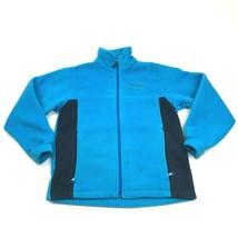 Columbia Fleece Jacket YOUTH Size Large 14 - 16 Turquoise Blue Full Zip Sweater - $21.87