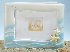 Beach Theme Wedding Guest Book and Pen Set Starfish design - $24.73