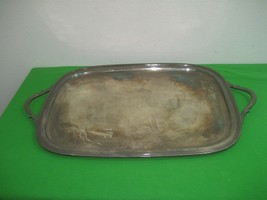 "Vintage EPNS International Silver Plated 22"" Serving Tray with Handles - $37.36"
