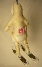 Vintage Inspired Spun Cotton Christmas, Winter Ornament Skier Girl No. 92 image 2