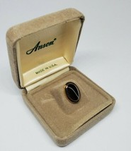 Vintage Anson Multi Tone Gold Silver Oval Tie Tack NIB NOS 1970s - £10.74 GBP