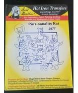 Aunt Martha's hot iron transfers 3877 - Purr-sonality Kat - $3.91