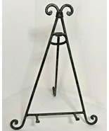 Wrought Iron Metal Display Scroll Easel Stand for Frames Plates Home Dec... - $14.99