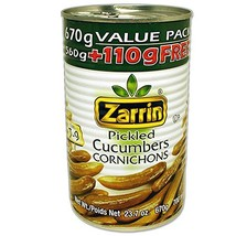 ZARRIN Pickled Cucumbers Cornichons, 23.7 oz x 3, Pack of 3