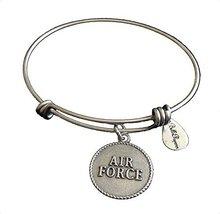 Bella Ryann Air Force Silver Charm Bangle Bracelet