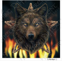 Wild Fire Wolf Card by Lisa Parker - Birthday , Greeting Card - $7.69