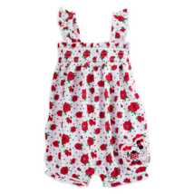 Disney Parks Minnie Mouse Floral Romper for Baby Sz 12 Mos - $24.99