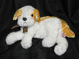 "2002 TY Beanie Buddy 'Darling' Ty Silk Gold and White Puppy Dog 12-14"" Inches - $23.75"