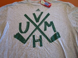 LZ Adidas Men's Size Large Vermont Catamounts Hockey T-Shirt Tee TShirt ... - $13.99