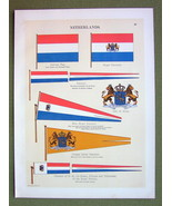 FLAGS Holland Queen's Prince's  & Family Orange Pennant - 1899 Color Lit... - $16.20