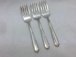 3 Vintage Wallace Dorothy Salad Forks Luxor Plate Silverplate Silver For... - $14.80