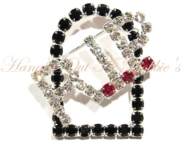 RIP Headstone Pin Crystal Brooch Rest In Peace Grave Autumn Fall Halloween - $24.99