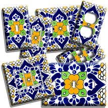 MEXICAN YELLOW TALAVERA TILE LOOK LIGHT SWITCH OUTLET PLATES KITCHEN FOL... - $10.99+