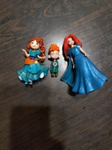 DISNEY BRAVE FIGURES LOT MERIDA BROTHER 3 figures  - $7.00