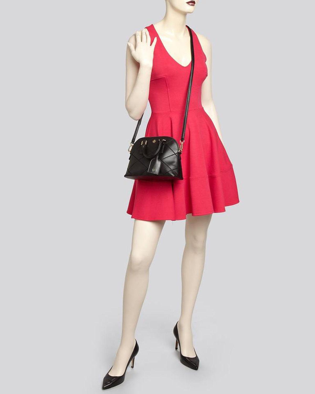 NWT Tory Burch Black Saffiano Mini Robinson Stitched Dome Cross Body Bag  - $425 image 12