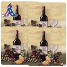 Reston Lloyd Square Gas Stove Burner Covers, Set Of 4, Wine And Vines Pa... - $16.69+