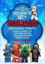Personalized Birthday Party Invitations Lego Ninjago,lego ninjago party ... - ₨436.39 INR