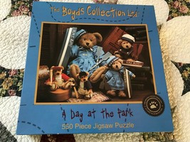 2001 Boyds Collection A DAY AT THE PARK Jigsaw Puzzle 550Pc NEW Sealed C... - $60.43