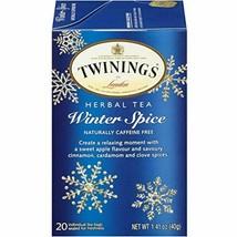 Twinings Winter Spice Herbal Tea 1 Box of 20 Bags Caffeine Free BB 5/21/... - $8.39