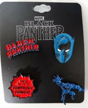 Black Panther Logo Marvel Comics Lapel 4 Pin Set - $9.99