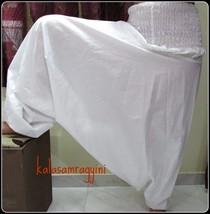 WHOLESALE 5 INDIAN ALI BABA HAREM YOGA UNISEX WHITE HAREM PANTS TROUSER ... - $31.27