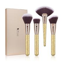 DUcare Face Makeup Brushes 4Pc Professional Travel Foundation Contour Po... - $17.43