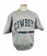 Vintage Russell NFL Pro Line Dallas Cowboys Sweatshirt Mens XL Short Sle... - $28.99